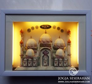 "Mahar uang masjid 5 kubah + lampu ""Syarif & Rani"" , Balikpapan"